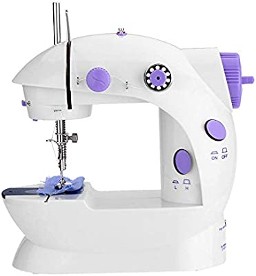 htovila Máquinas de Coser, Mini Máquina de Coser Eléctrica, con Cortahilos+Lámpara+Pedal, Europer Standard 220V: Amazon.es: Hogar