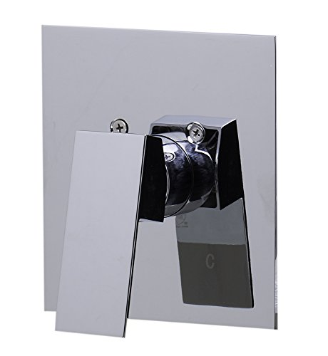 ALFI brand AB5501 Shower Valve Mixer with Square Lever Handle, Polished Chrome