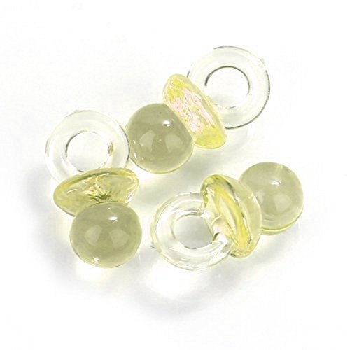 Small Yellow Acrylic Baby Pacifiers to Decorate Baby Shower Favors - 144 Pieces - Size: 1/2