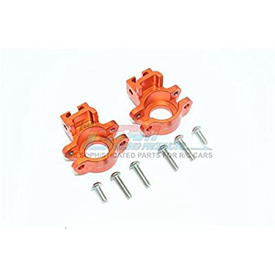 GPM Traxxas Unlimited Desert Racer 4X4 (#85076-4) Upgrade Parts Aluminum Rear Axle Hub - 1Pr Set Orange: Toys & Games