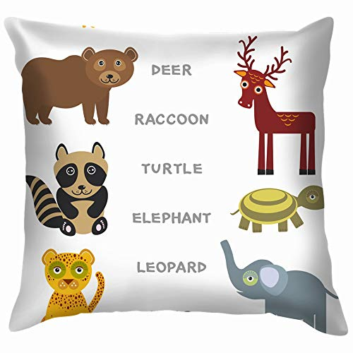 Kids Words Learning Game Worksheet Read Education Alphabetically Throw Pillows Covers Accent Home Sofa Cushion Cover Pillowcase Gift Decorative 26X26 -