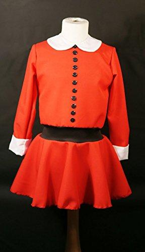 Annie Musical Costumes (World Book Day-Willie Wonka-Dahl VERRUCA SALT or ANNIE Child's Fancy Dress Costume - All Ages/Sizes (AGE 9-10))