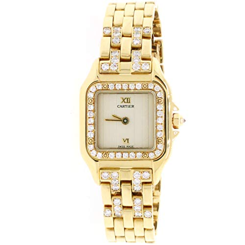 - Cartier Panthere 18K Yellow Gold Factory Diamond 22mm Ladies Watch 1280 2