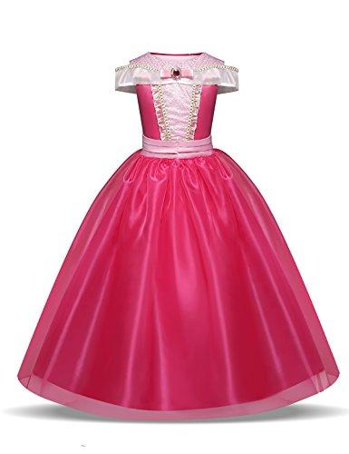 NNJXD Meisjes Belle Assepoester Kostuums Carnaval Kostuum Prinses Halloween Feestjurk