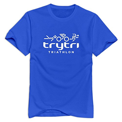 RoyalBlue Triathlon Short-Sleeve T Shirt For Men's Size M -