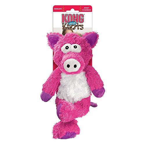 KONG Cross Knots Pig Toy, Small/Medium (Kon Toy)