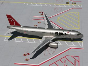 A320 Northwest Airline - Gemini200 Northwest Airlines A320-200