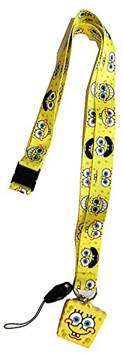 nickelodeon-spongebob-squarepants-face-printed-lanyard-with-rubber-motif-id-card-holder-and-breakawa