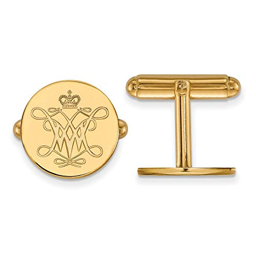 Kira Riley Gold Plated William and Mary Cuff Link ()