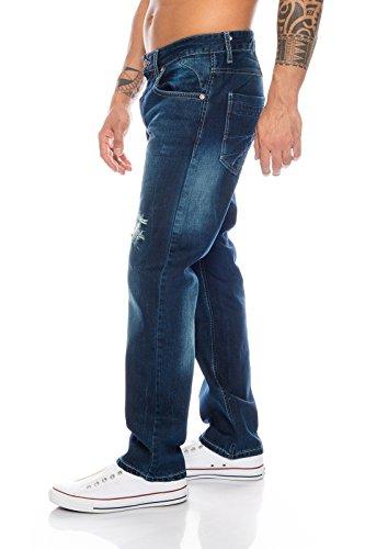 Jeans Lorenzo Straight Loren Blu Uomo Notte 0aYAaqx