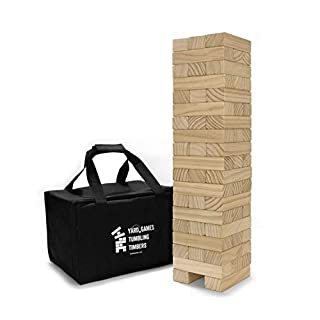 Yard Games Large Tumbling Timbers with Carrying Case | Starts at 2-Feet Tall and Builds to Over 4-Feet | Made with Premium Pine Wood