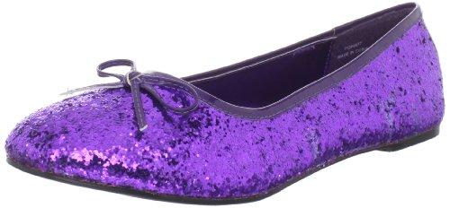 - Funtasma Women's Star-16G Flat,Purple Glitter,12 M US