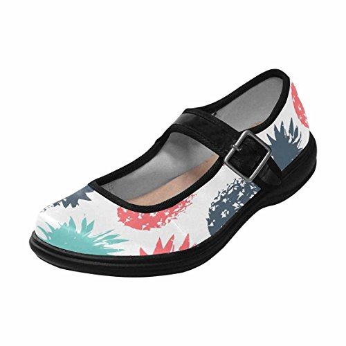 Interestprint Womens Komfort Mary Jane Lägenheter Tillfälliga Promenadskor Multi 10