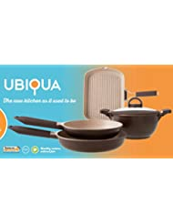 Italy s Tognana Ubiqua 5 Pcs (4 pots and pans with one lid) Advanced 3rd Generation Ceramic Coating Non-stick...