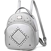 Bag Wizard Women's Mini PU Leather Sequins Backpack