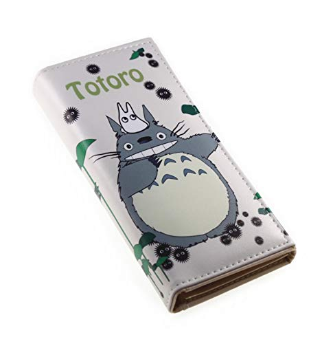 (Japanese Style PU Leather Cute Totoro Pattern Cartoon Trifold Wallet Cash Coin Long Purse Card Holder for Girls & Boys (Style #5) )
