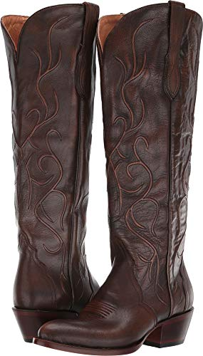 Lucchese Women's Peri Distressed Chocolate 9 B US