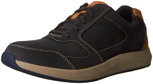 Clarks Mens Sirtis Mix Casual Fashion Sneaker Navy 10 M US