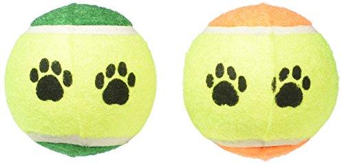 Greenbrier International Inc Dog Toy Pack of Two Tennis (Paw Print Tennis Balls)