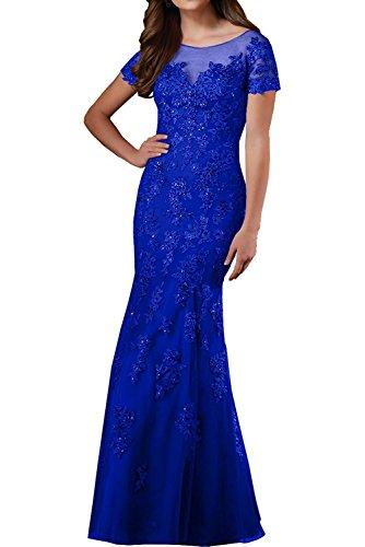 Lang Abendkleider Braut Marie Jugendweihe Blau Lila Kleider Royal Spitze Festlichkleider Hell La Kleider Damen Brautmutter dwIqIP