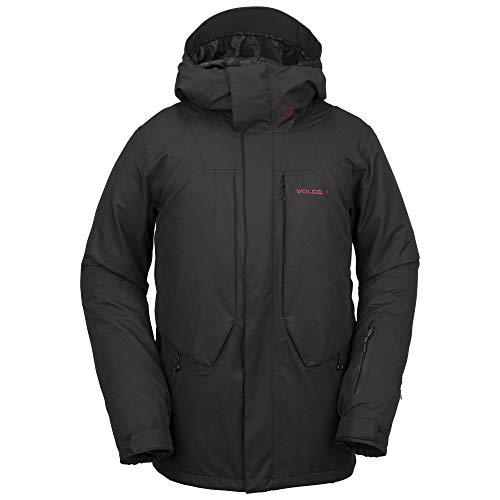 Volcom Men's Anders 2L Thermal Lined Snow Jacket, Black, Large