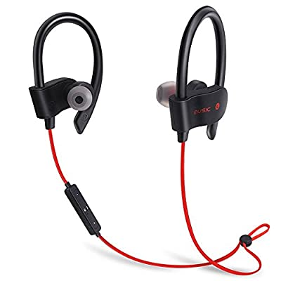 Bluetooth Workout Headphones for Running and Gym with Wireless Earbuds and Built in Mic for Hands Free Calling