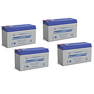 12V 9Ah Ion Block Rocker Uninterruptible Power Supply Audio Battery - 4 Pack