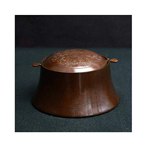 Antique Copper Ashtray Personality Retro Copper Ashtray Creative Rotating Flip High-end Bronze 11.5X6X8cm