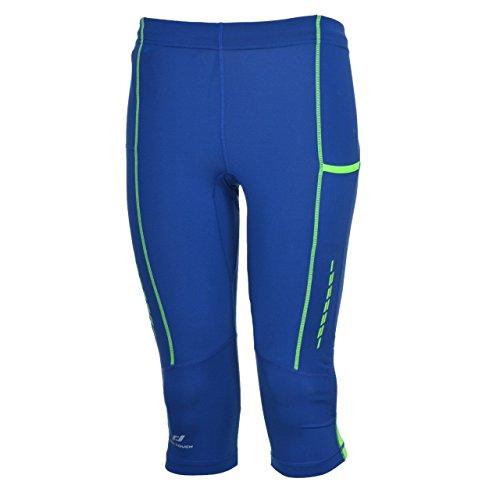 Pro Touch Ralti Herren Laufhose 3/4 Tight Overknee Hose Lauftight vers. Farben, Größe:M;Farbe:Blue Dark/ Green Lime