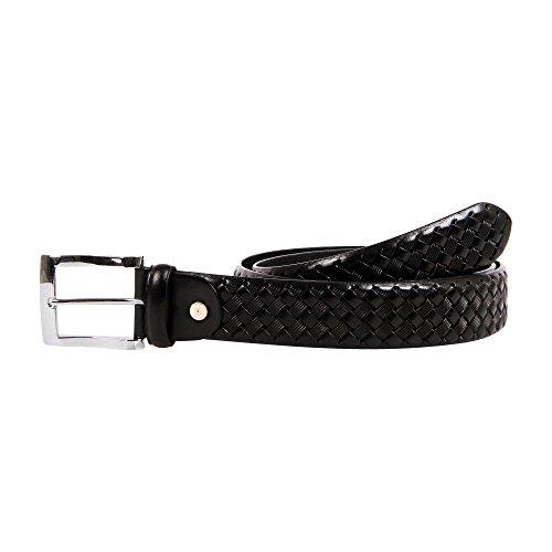 37-38 Affilare Men's Genuine Italian Leather Dress Belt 35mm Black 12CFTD24BK from Affilare