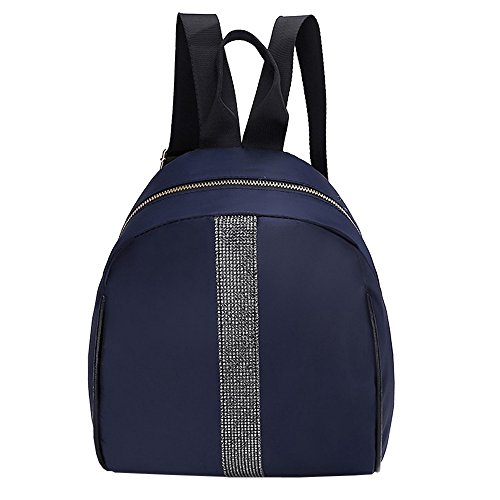 Women Nylon Backpack Color Blue Hit Dark Students Fashion Bag Tote Bag School Shoulder aSgq4cSw