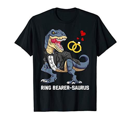 Ring Bearer Saurus Rex T Shirt Gift For Men Women Kids -