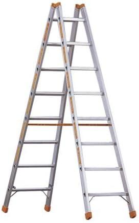 Peldaños de aluminio escalera de tijera Topic 1039 10 peldaños, alto 2,10 M, longitud 2,95 M: Amazon.es: Bricolaje y herramientas