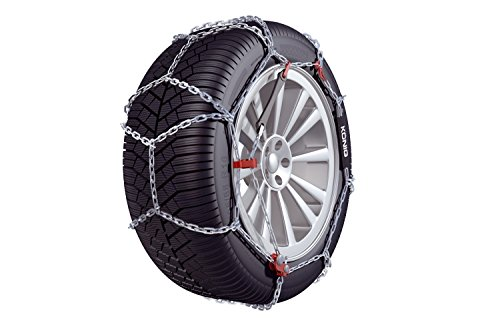 KONIG CB-12 100 Snow chains, set of 2 (Best Snow Tires For Sedans)