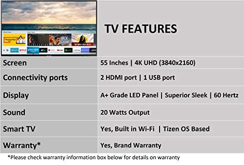 Samsung 139 cm (55 Inches) 4K Ultra HD LED Smart TV UA55NU7090KXXL (Black) (2019 model)