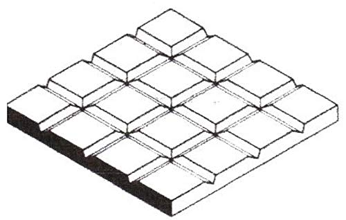 Evergreen Scale Models Square Tile 1/8