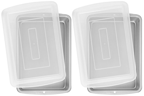 Wilton Recipe Right 13 x 9 Oblong Pan with Cover, Pack of 2 Pans