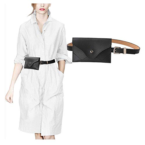 JASGOOD Womens Leather Belt Fanny Pack With Removable Belt Tassel Waist Pouch Fashion Belt Bags ()