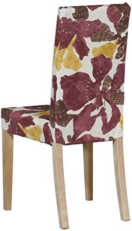 Dekoria IKEA Harry Housse de Chaise JauneMarronBordeaux