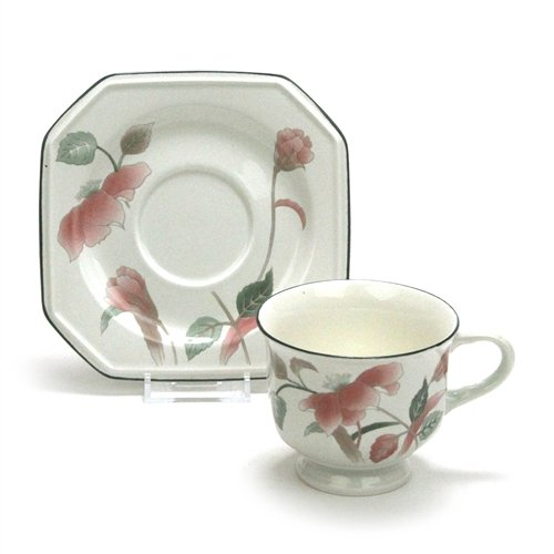 Silk Flowers by Mikasa, China Cup & Saucer ()