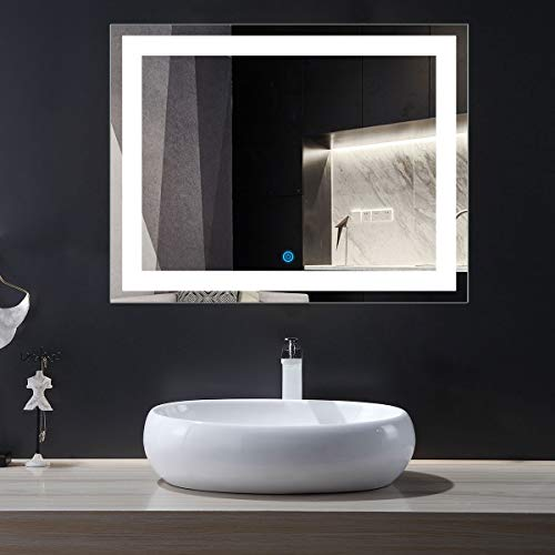 DP Home Eco-Friendly Lighted Bathroom/Vanity Wall Mirror, Rectangle Illuminated Vanity Mirrors,36 x -