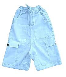 RaanPahMuang Brand Childrens 100% Cotton Thai Made Cargy Army Pants, Small, Cream