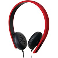 Ecko EKU-FSN-RD Fusion Stereo Headphones with Inline Microphone and Controls - Red