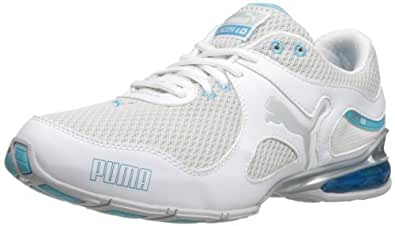PUMA Women's Cell Riaze Cross-Training Shoe,White/Blue Atoll,10.5 B US