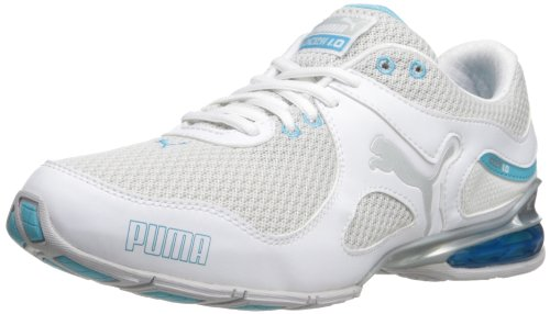 PUMA Women's Cell Riaze Cross-Training Shoe,White/Blue Atoll,11 B US