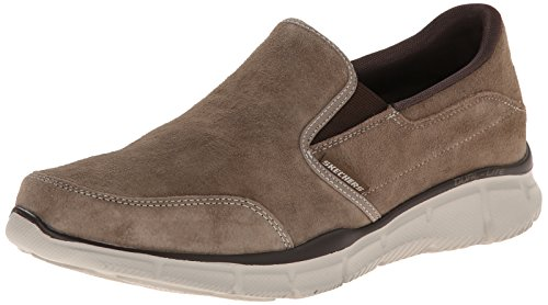 Skechers Sport Men's Equalizer Mind Game Slip-On Loafer,Brown Suede,12 M US