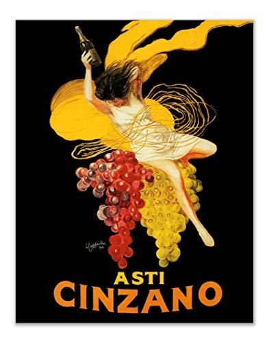 Summit Designs Vintage Asti Cinzano Leonetto Cappiello Wall Art - (11x14) Inch Unframed Italian Poster Print - Wine Italy