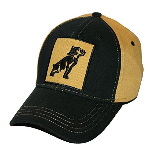 Mack Trucks Mens OSFM Stretch Fit Black & Gold Bulldog Patch Cap -