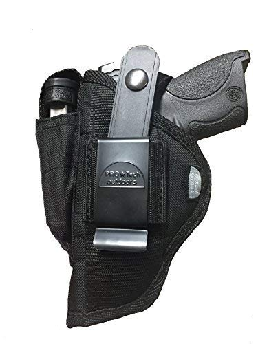 (Pro-Tech Outdoors Belt or Clip on Side Holster w/Magazine Pouch for Smith & Wesson M&p Sigma 9VE, 40VE, Beretta Storm Px4 and all Full Size 9mm 40 45 Pistols)