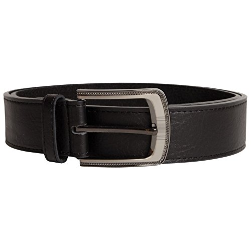 Duke Mens D555 Samuel Kingsize Bonded Leather Belt (60) (Black) Samuel Black Bonded Leather